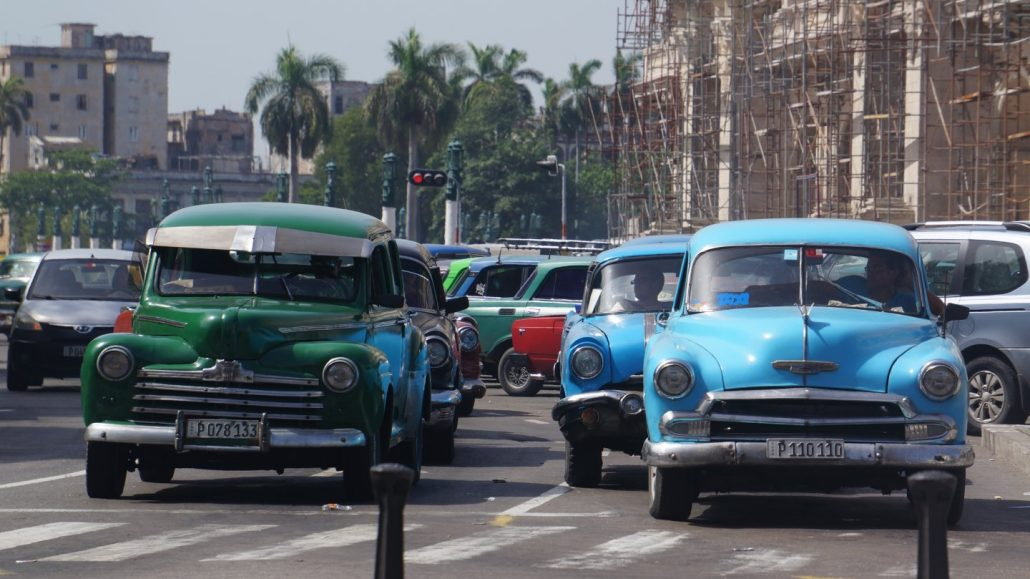 Cars On The Road Havana, Cuba