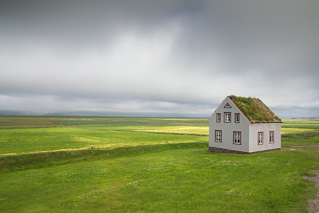 House in Icelandic Countryside