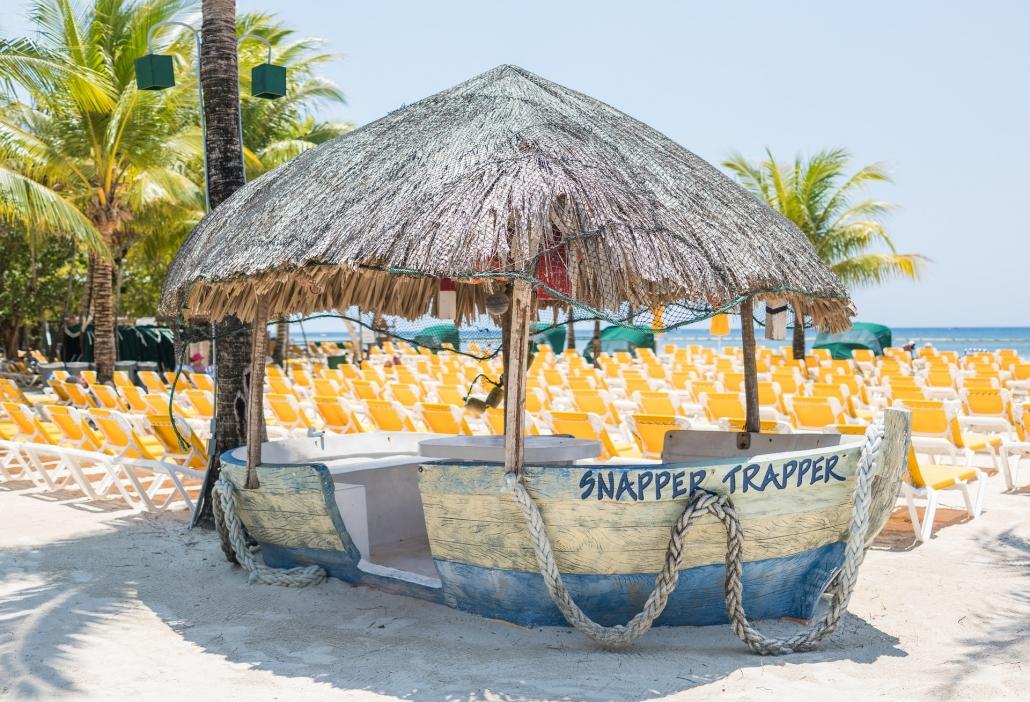 Boat on Beach Roatan