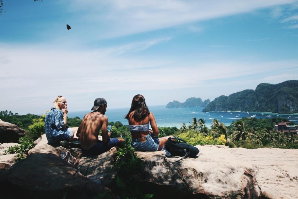 Friends in Phi Phi Islands