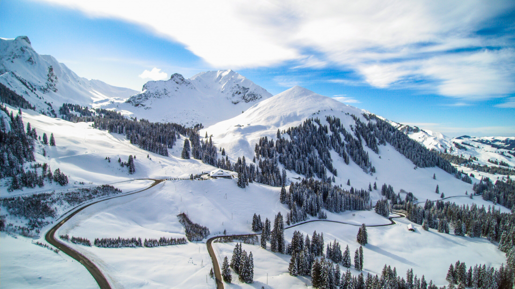 Snow in the Alps