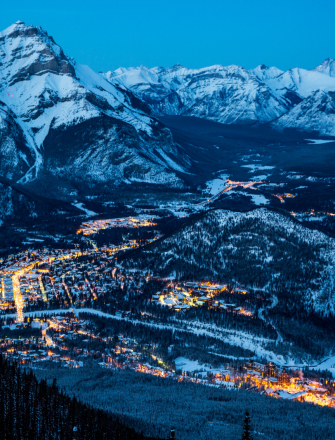 Snowy Canada City